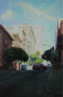 "Right turn at Powell, 36""x24"", Oil on Canvas (2008)"