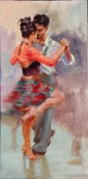 "Tango U, 24""x12"", Oil on Canvas (2006)"