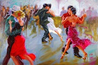 "Argentinian Milonga, 40""x56"", Oil on Canvas (2013)"