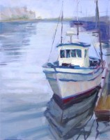 "Morro Bay Morning, 20""x16"", Oil on Canvas (2004)"