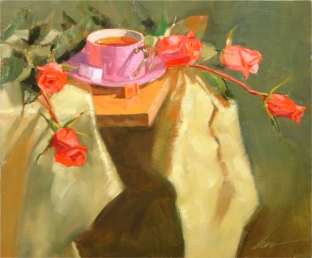 "Cup of Tea II, 20""x24"", Oil on Canvas (2005)"