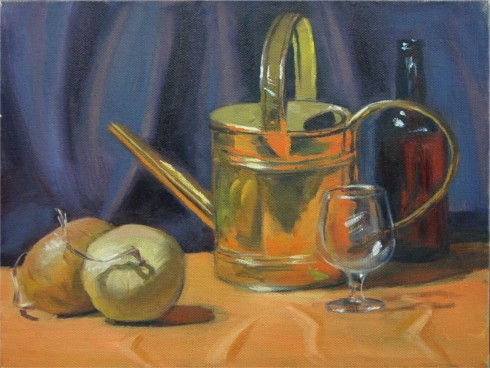 "Copper Kettle, 9""x12"", Oil on Canvas (2003)"