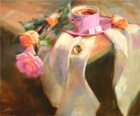 "Cup of Tea, 20""x24"", Oil on Canvas (2005)"