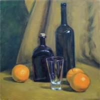"The Oranges, 12""x12"", Oil on Canvas (2003)"